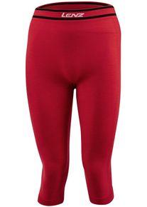 Lenz 6.0 Merino 3/4 Funkční kalhoty L červená