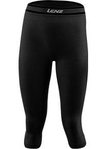 Lenz 6.0 Merino 3/4 Dámské funkční kalhoty XS Černá