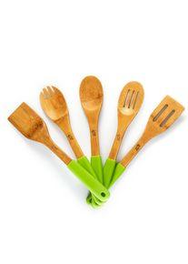 Klarstein Kuchyňské příslušenství, 5 ks, silikonové rukojeti, bambus