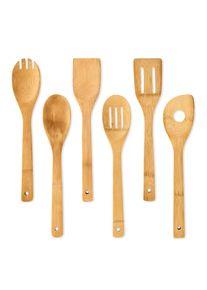 Klarstein Kuchyňské příslušenství, 6 ks, silikonové rukojeti, bambus
