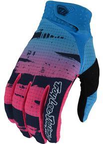Troy Lee Designs One & Done Air Brushed Mládežnické motokrosové rukavice S Růžový Modrá