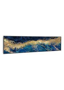 Klarstein Wonderwall Air Art Smart, infračervený ohřívač, modrý mramor, 120 x 30 cm, 350 W