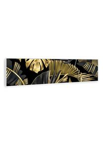 Klarstein Wonderwall Air Art Smart, infračervený ohřívač, černý květ, 120 x 30 cm, 350 W