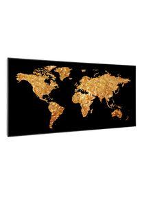 Klarstein Wonderwall Air Art Smart, infračervený ohřívač, zlatá mapa, 120 x 60 cm, 700 W