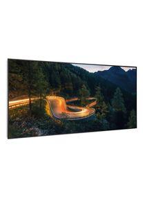 Klarstein Wonderwall Air Art Smart, infračervený ohřívač, horská cesta, 120 x 60 cm, 700 W