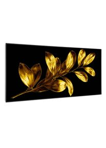 Klarstein Wonderwall Air Art Smart, infračervený ohřívač, zlatý list, 120 x 60 cm, 700 W