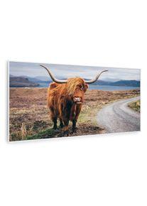 Klarstein Wonderwall Air Art Smart, infračervený ohřívač, kráva, 120 x 60 cm, 700 W