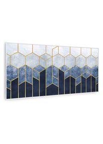 Klarstein Wonderwall Air Art Smart, infračervený ohřívač, modrá čára, 120 x 60 cm, 700 W