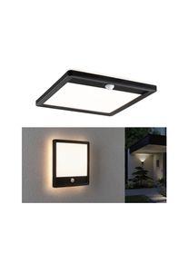 Paulmann LED venkovní panel Lamina vč. pohybové čidlo IP44 hranaté 250x250mm 3000K 14,5W 230V černá umělá hmota 94665