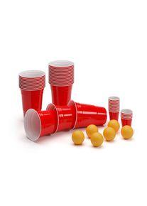 BeerCup Federer Ultimate Ber Pong párty balík, Red Cups, Shot Cups, včetně míčků