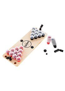 BeerCup Ace Mini Beer Pong, stůl, 25 černých a červených panáků, 3 vystřelovače míčků, 3 míčky